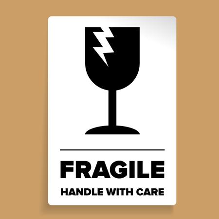 Fragile Packaging Label or sticker vector