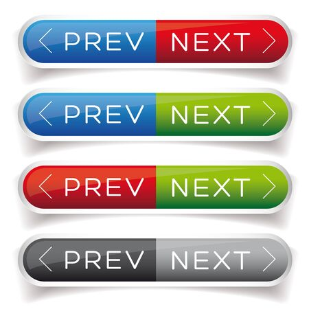 pager: Next Previous button red and blue Illustration