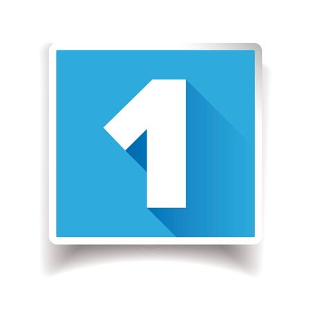 Number one label or number icon Banco de Imagens - 62365431