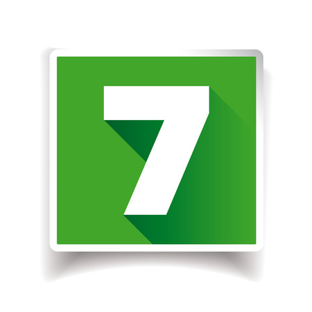 seven: Number Seven vector Illustration