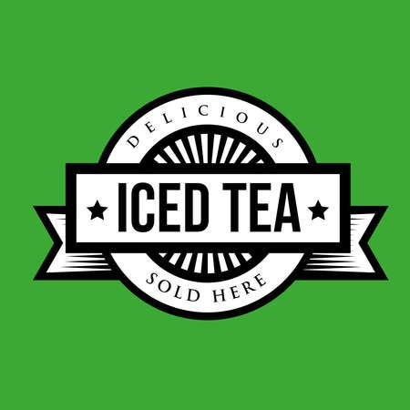 Vintage Iced Tea sign Illustration