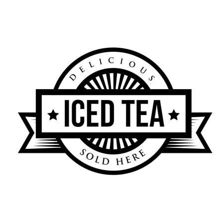 iced: Vintage Iced Tea sign Illustration