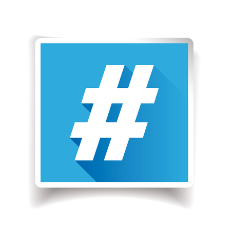 Hashtag sign or hashtag icon Illustration