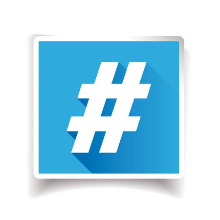 Hashtag sign or hashtag icon Illustration