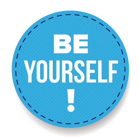 yourself: Be Yourself vector labbel