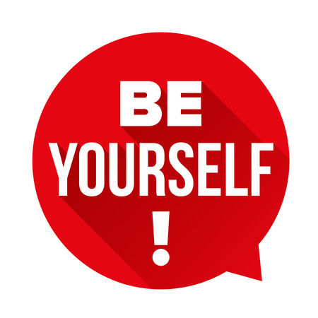 Be Yourself vector labbel