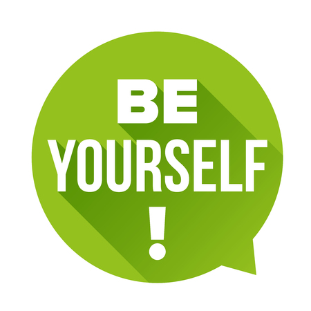 be: Be Yourself vector labbel