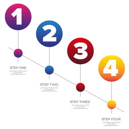 bar one: Timeline - One two three four progress bar label