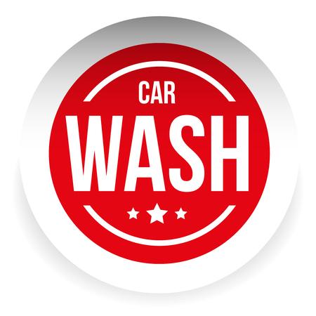 car wash: Car wash button icon vector