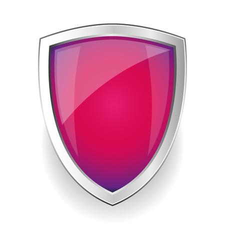 steel: Empty Steel shield vector Illustration