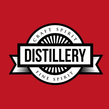 tun: Distillery vintage  vector Illustration