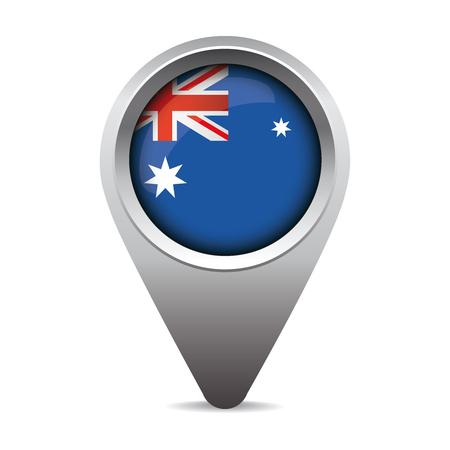 australia flag: Australia flag pointer vector
