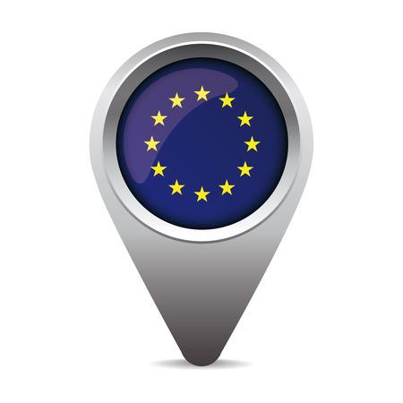 eu: EU flag pointer vector