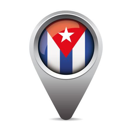 bandera de cuba: Cuba puntero del vector de la bandera