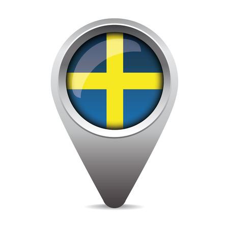 bandera de suecia: Suecia vectorial puntero del indicador