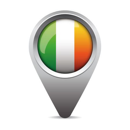 ireland flag: Ireland flag pointer vector