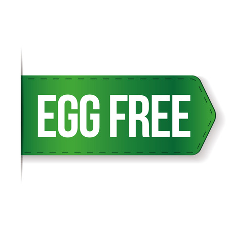 preservatives: Egg Free sign vector