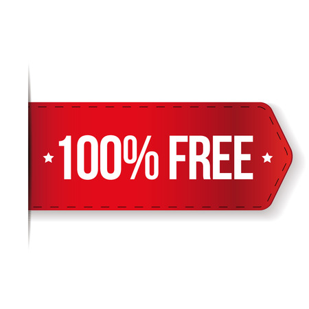 100 percent free red ribbon