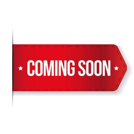 Coming soon red ribbon Reklamní fotografie - 63700751