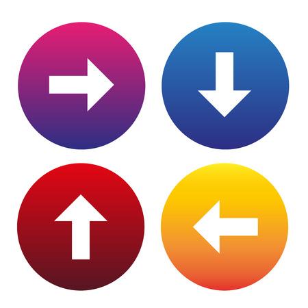 Arrow sign icon set vector Illustration