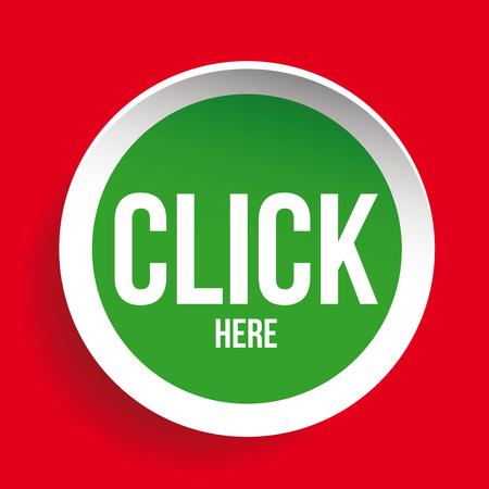 Click here icon button Illustration