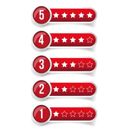 rating: Rating stars set