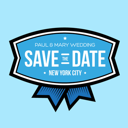 tearaway: Save the date lettering vintage