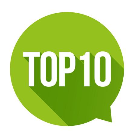 Top 10 - Top Ten vector speech bubble