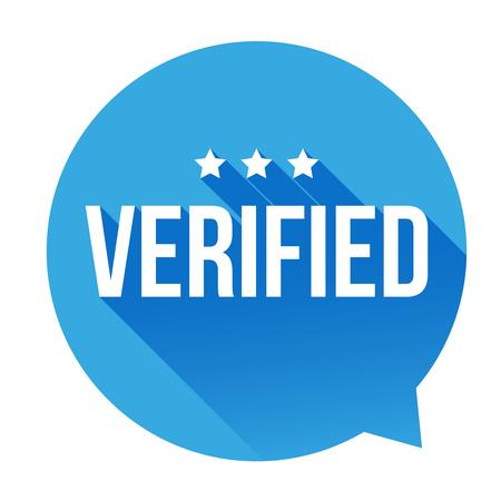 verified: Verified badge vector speech bubble