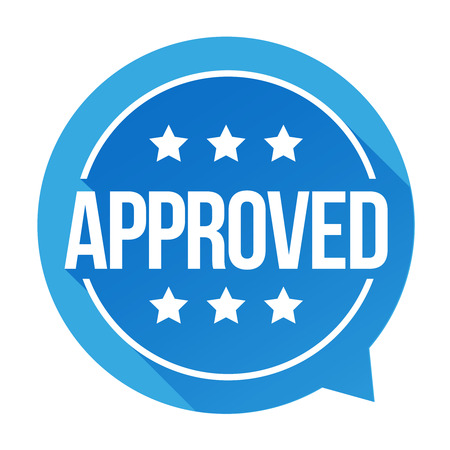 permission granted: Approved sign vector badge Illustration