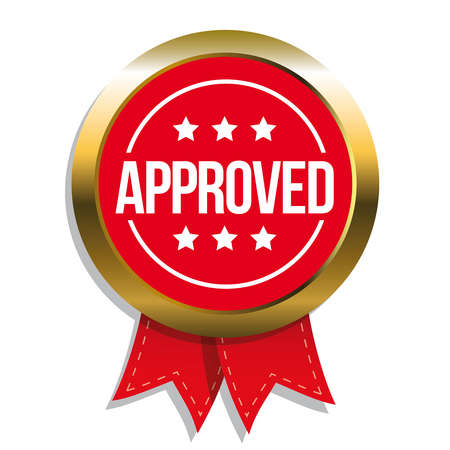 tried: Approved sign vector badge Illustration