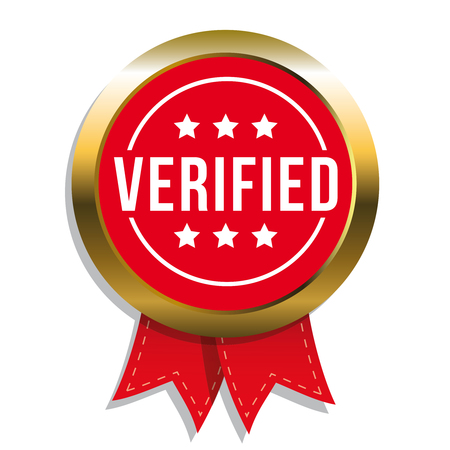 verified: Verified badge vector with ribbon