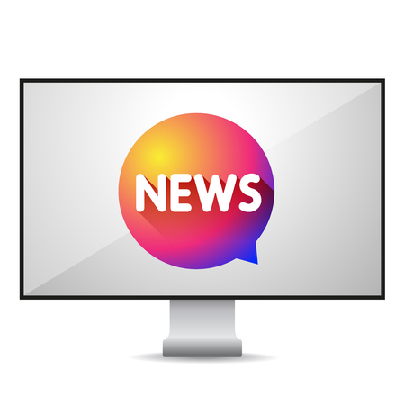 tv screen: News TV screen vector Illustration