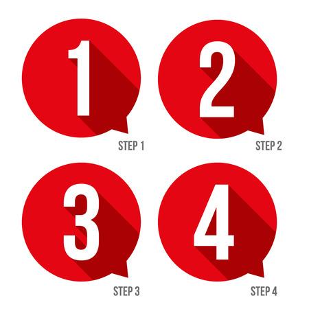 One two three four progress bar stickers