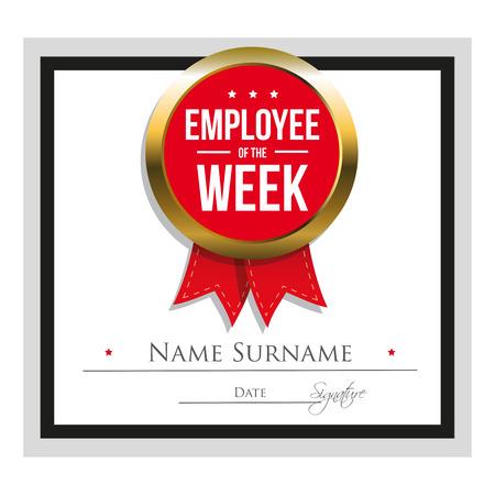 red ribbon week: Employee of the week certificate template