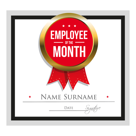 awarding: Employee of the month certificate template