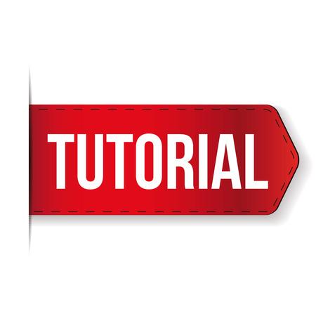 tutorial: Tutorial ribbon vector red
