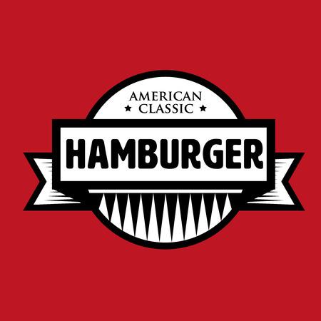 Hamburger - vintage stamp American Classic