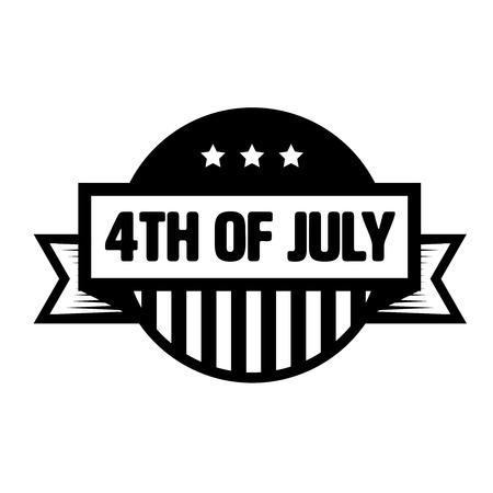 fourth of july: Fourth of July vintage stamp Illustration
