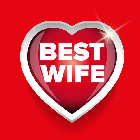 matchless: Best Wife vector heart