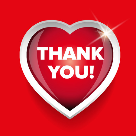 upmarket: Thank You card vector heart