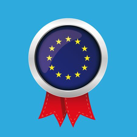 eu: EU badge with red ribbon