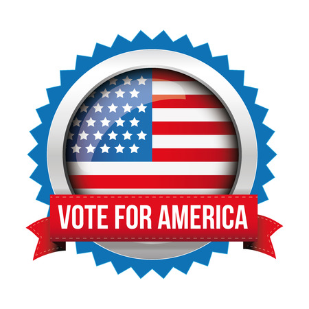 nomination: Vote for America - election badge