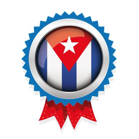bandera de cuba: Cuba Botón del indicador insignia