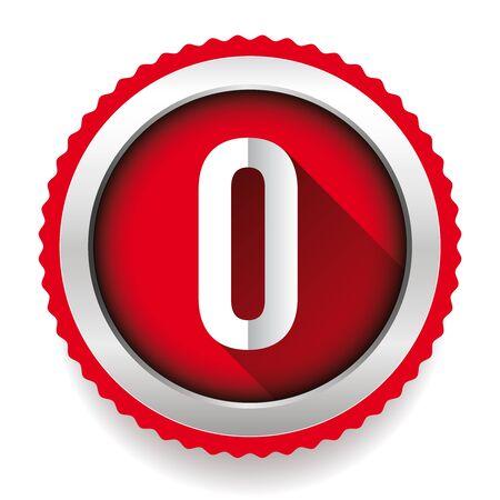 number zero: Number Zero badge vector