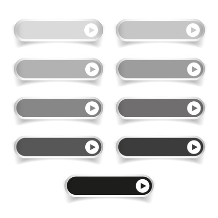 greyscale: Greyscale long round buttons