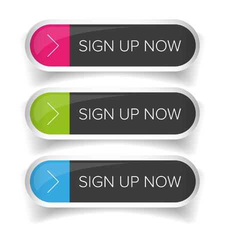 Sign Up Now button set
