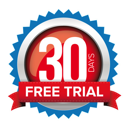 hint: Thirty days free trial badge Illustration