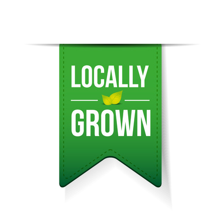 home grown: Locally Grown green ribbon
