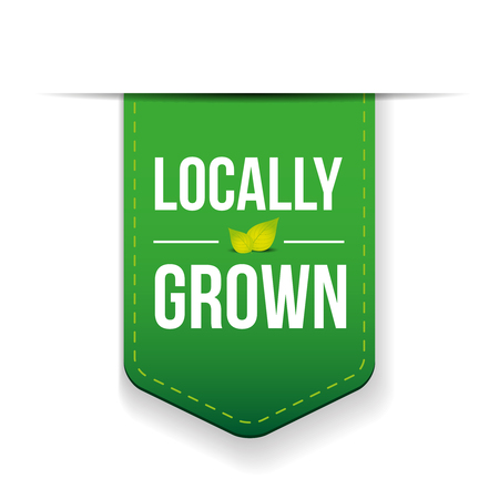 locally: Locally Grown green ribbon